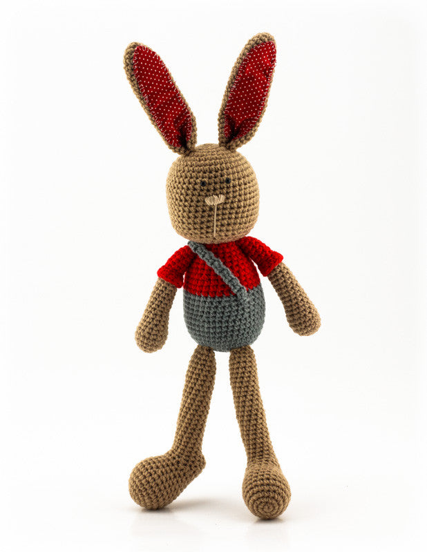 Benji Bunny Red and Grey - Standing