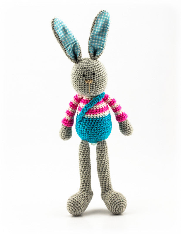 Benji Bunny Pink and Blue - Standing