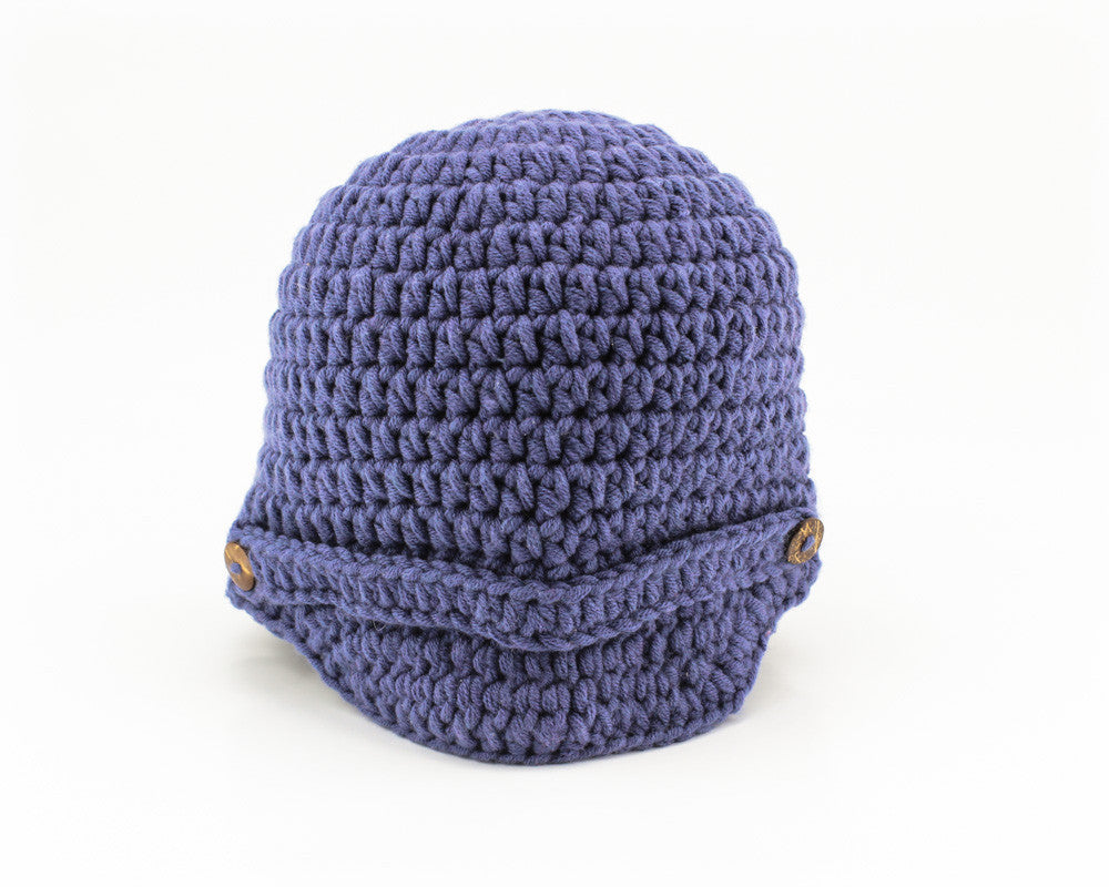 Newsboy Hat Blue - Front