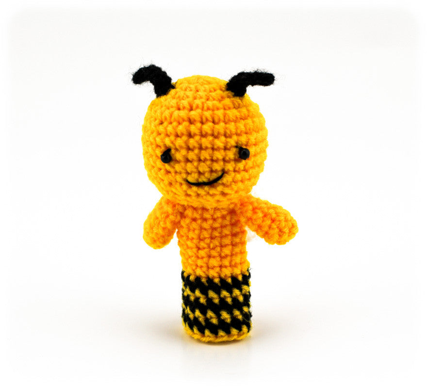 Bonnie Bee Finger Puppet - Front
