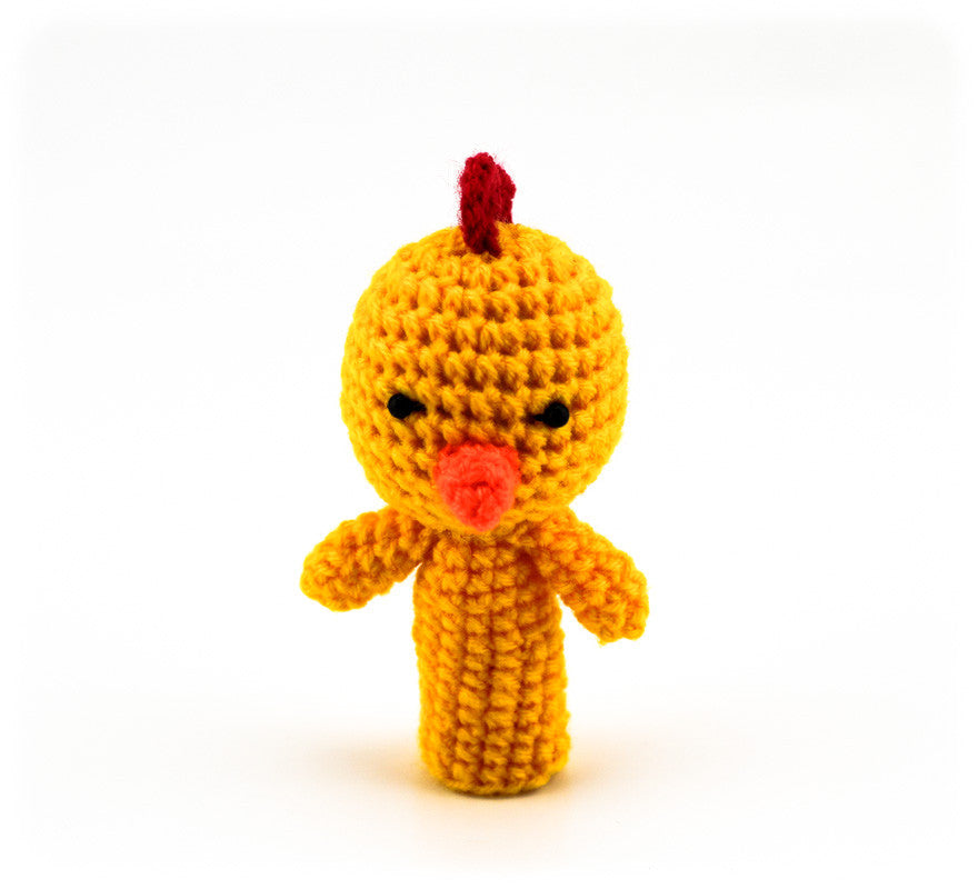 Chikadee Chick Finger Puppet - Front