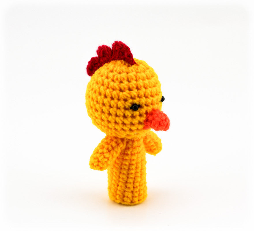 Chikadee Chick Finger Puppet - Side