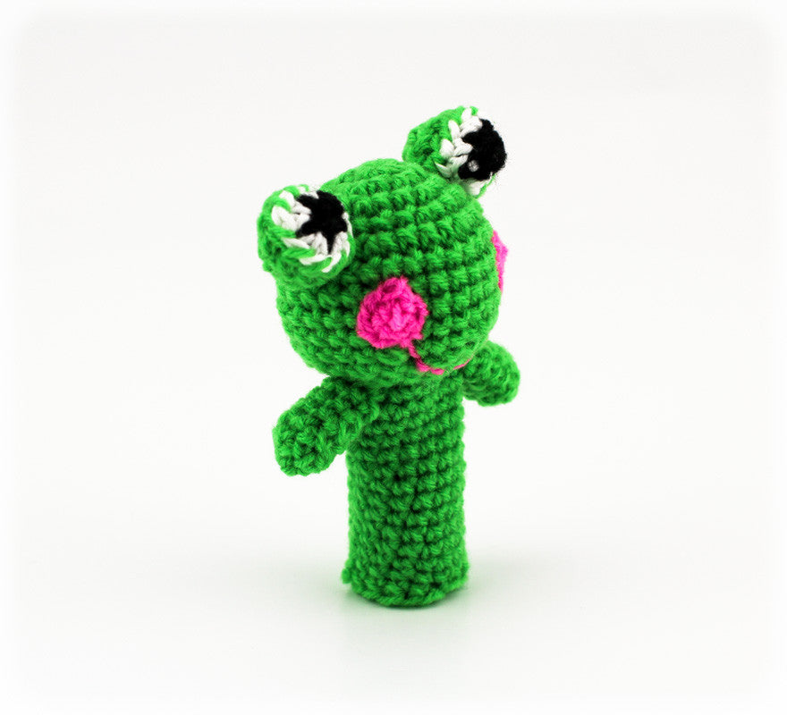 Freddy Frog Finger Puppet - Side