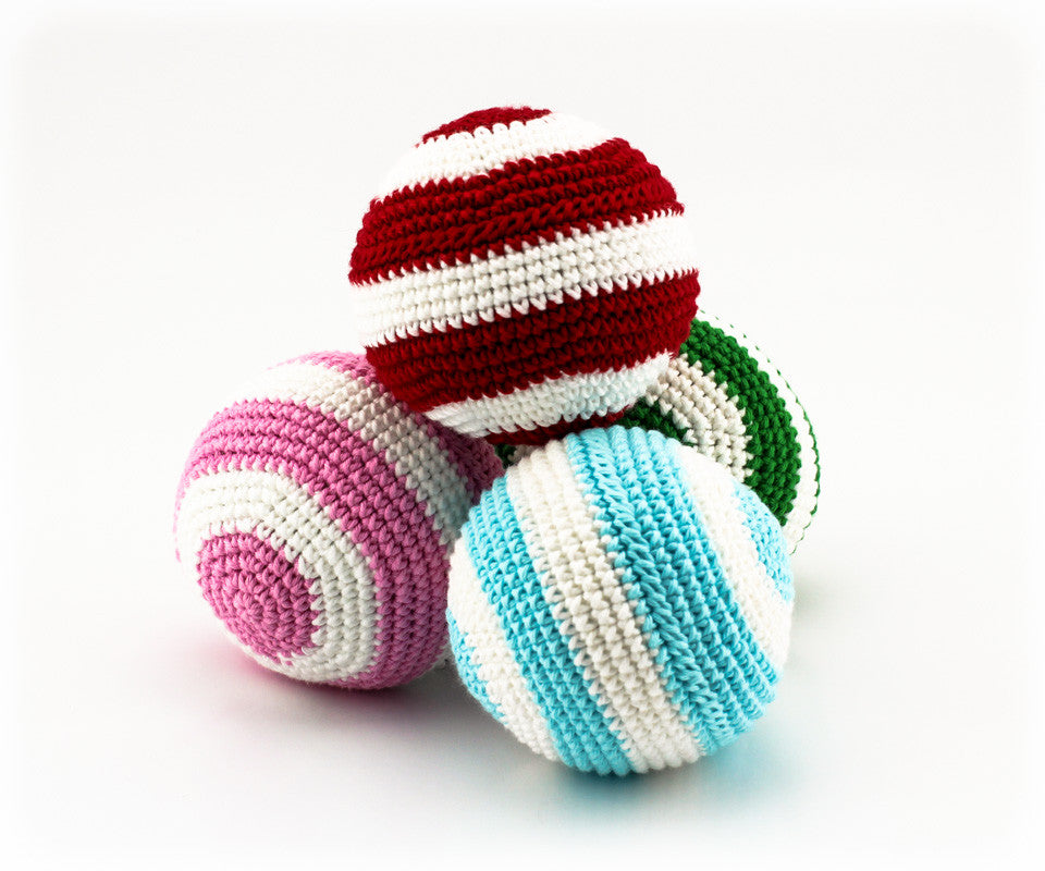 Stripey Ball Rattle Pack 1