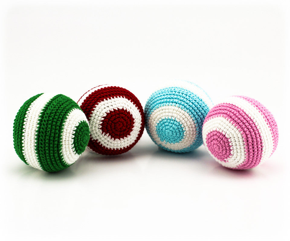 Stripey Ball Rattle Pack 2