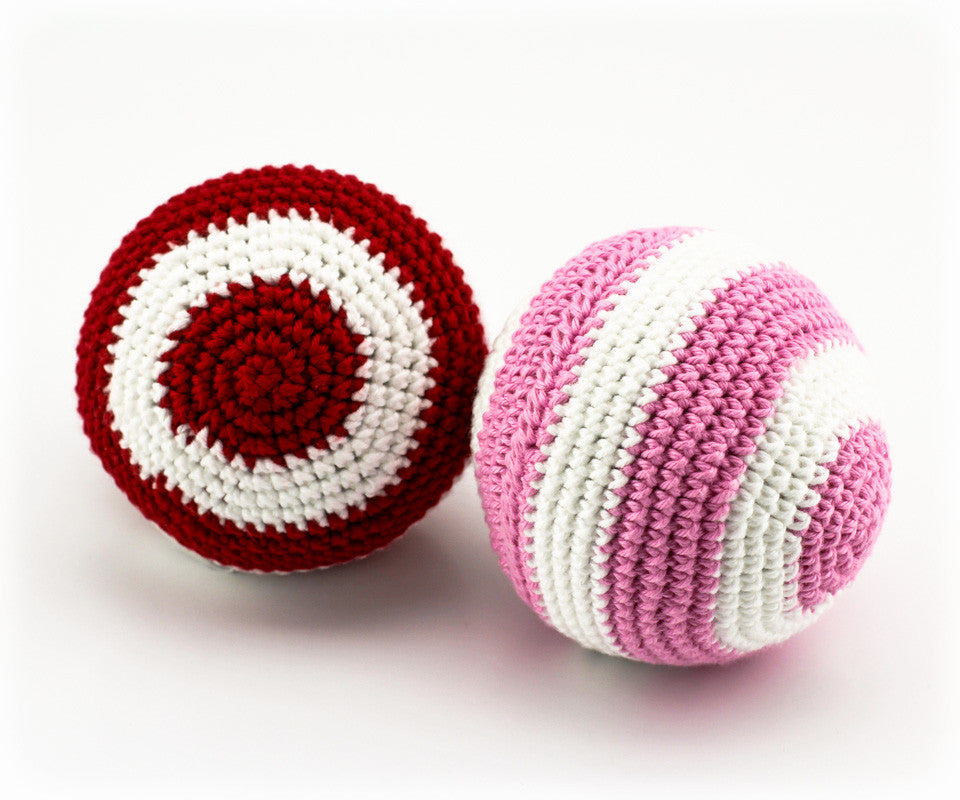 Stripey Ball Rattle Pack 3