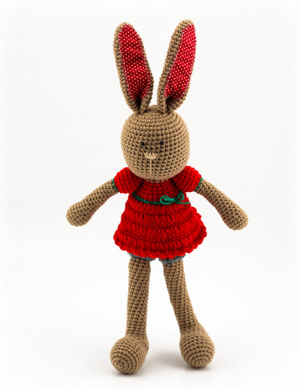 Bella Bunny Red and Grey - Standing