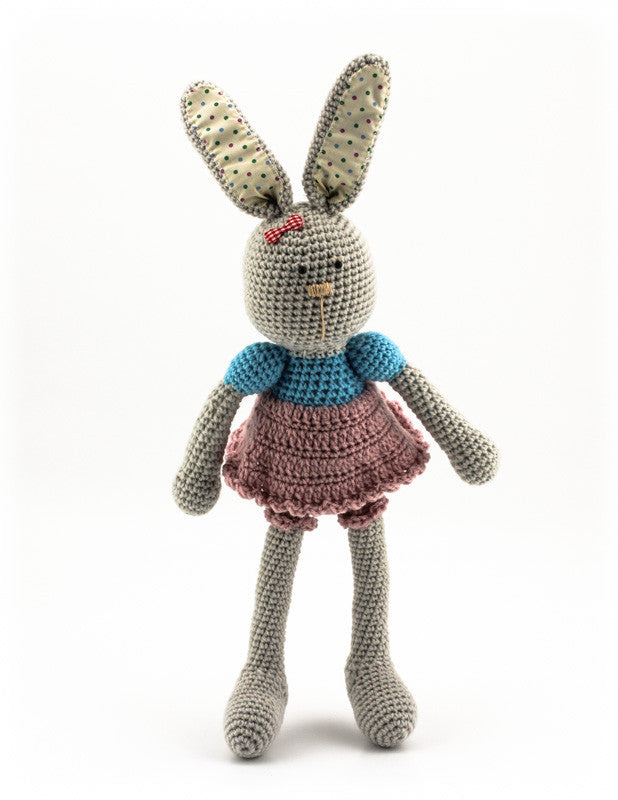 Bella Bunny Dusky Pink and Sky Blue - Standing