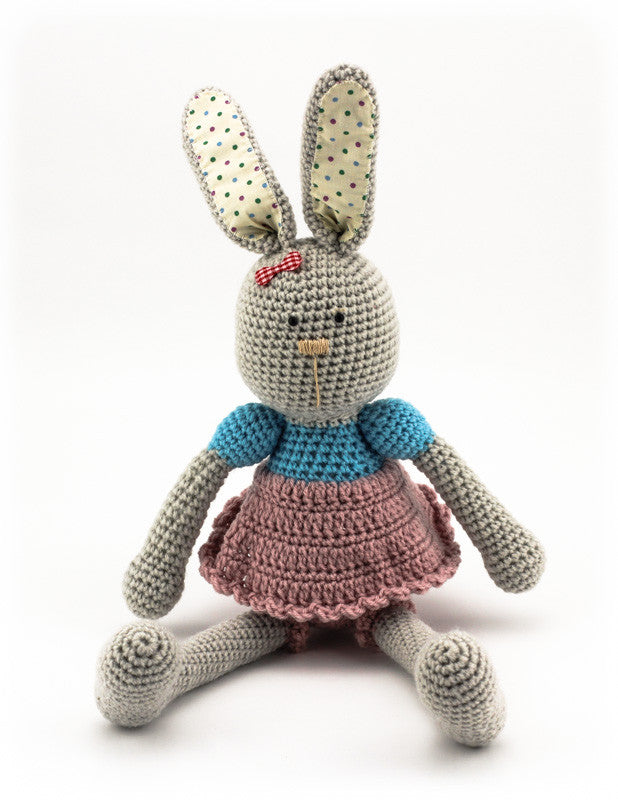 Bella Bunny Dusky Pink and Sky Blue - Front