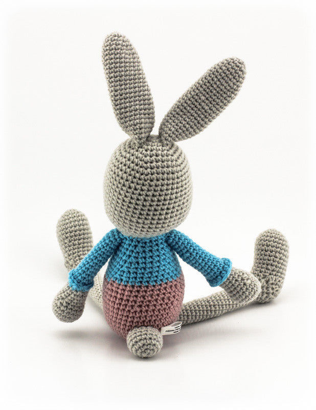 Benji Bunny Dusky Pink and Sky Blue - Back