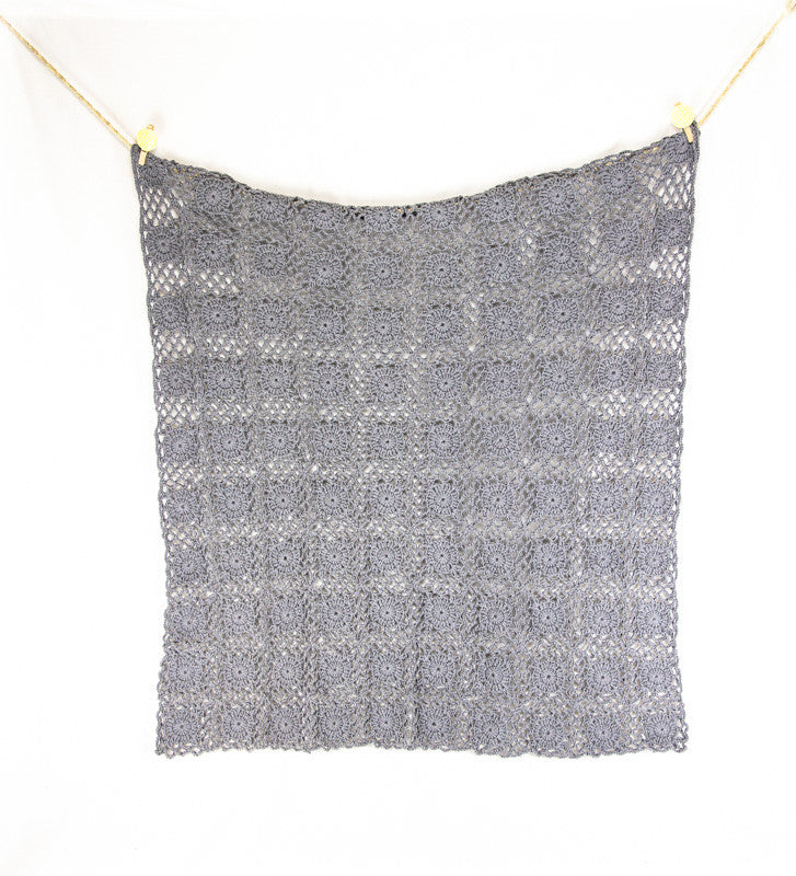 Crochet Blanket Grey - Hanging2