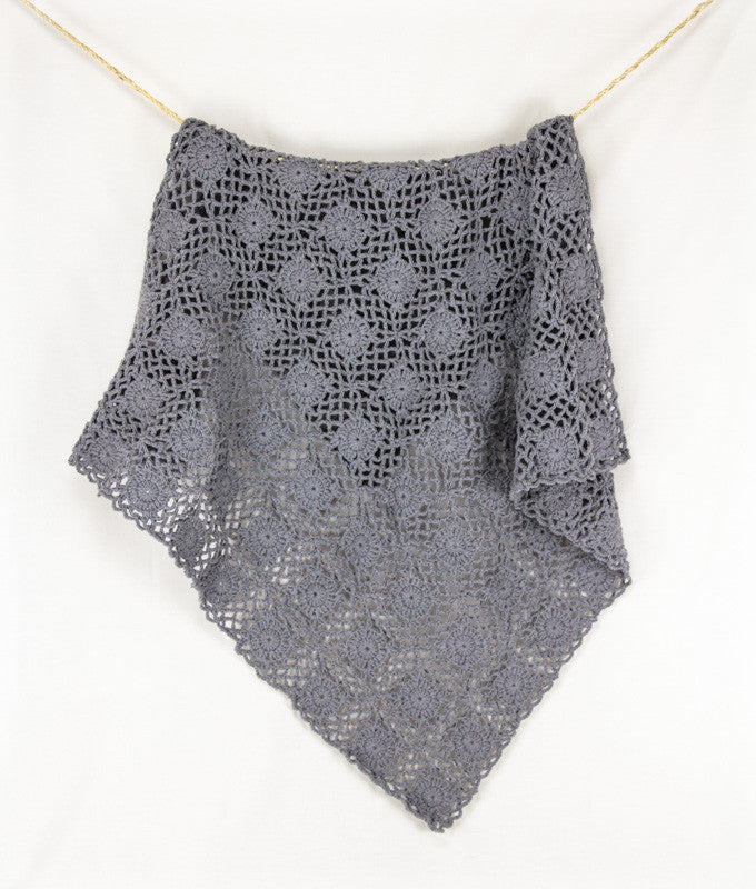 Crochet Blanket Grey - Hanging1