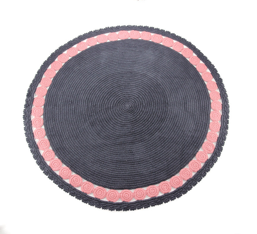Circle Rug Grey and PInk - Full