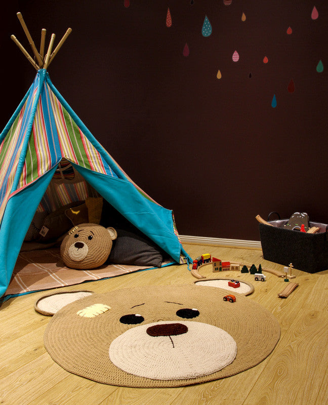 Bear Rug - Playroom