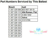 HID / Xenon ballast - HID202 307 329 115 - Part Numbers