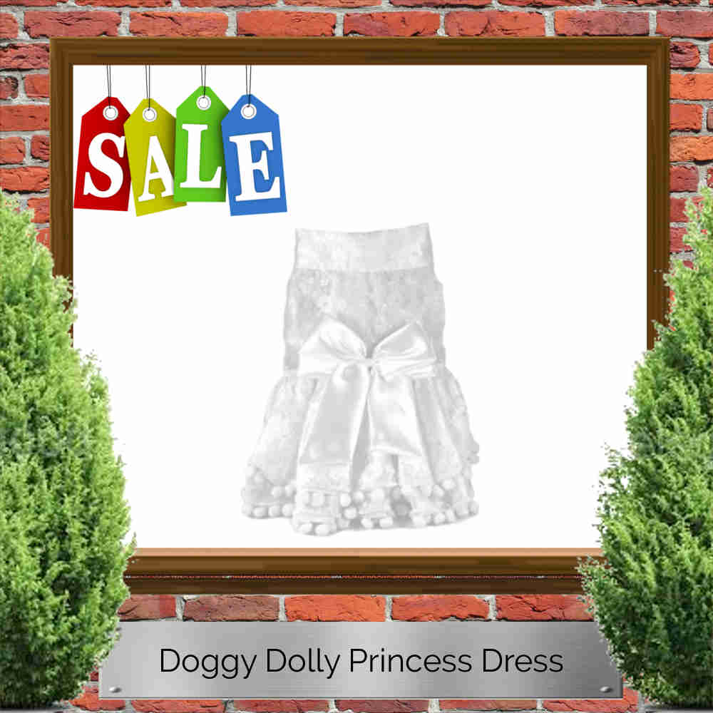 Doggy Dolly Princess Wedding Dress