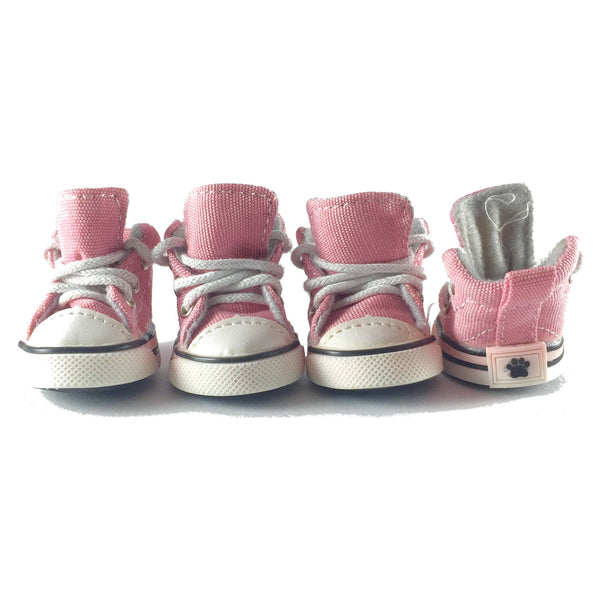 Adidog Pink Denim Sneakers