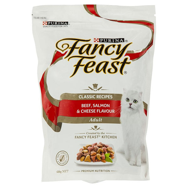 Fancy Feast Beef, Salmon & Cheese - 450g