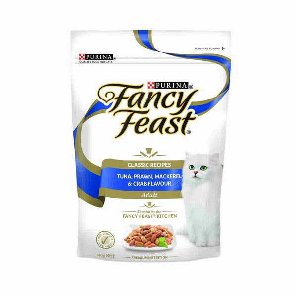 Fancy Feast Tuna, Prawn, Mackerel & Crab - 450g