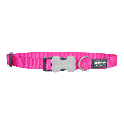 Red Dingo Classic Dog Collar - Hot Pink