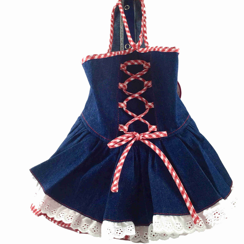 Pets Society Pet Outfit - Sleeveless Denim Dress