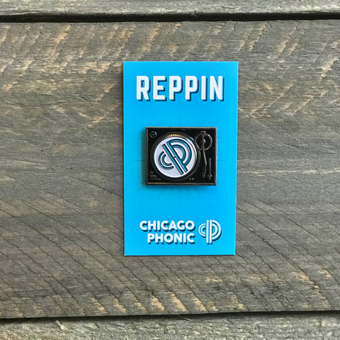 Chicago Phonic x Reppin : Technics 1200 Spinning Enamel Pin