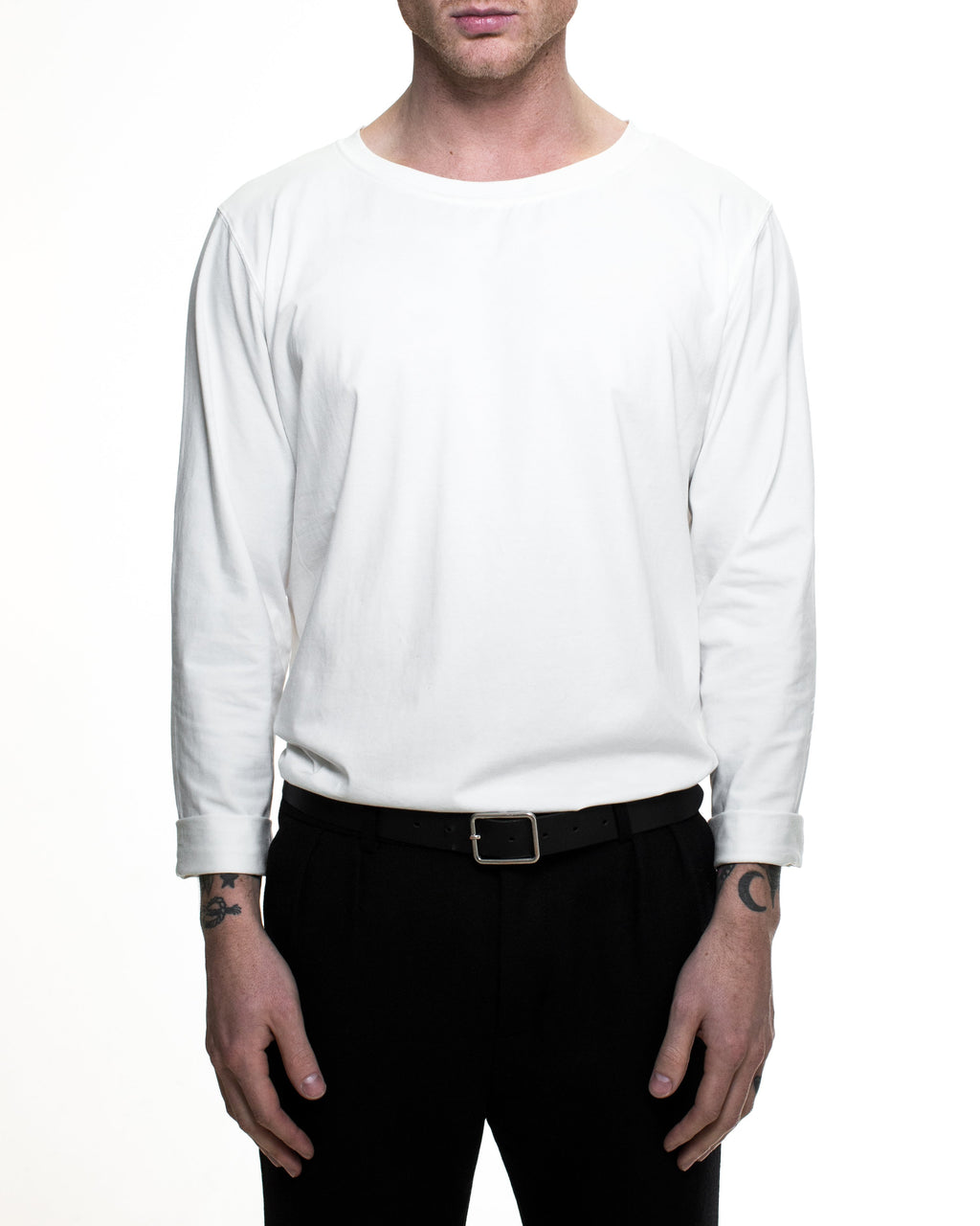 Hook Long Sleeve T-Shirt - White