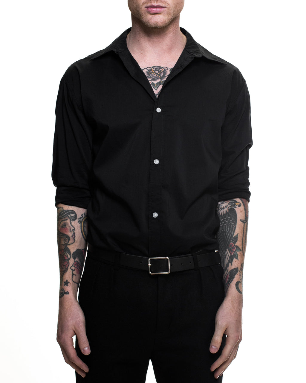 Curtis Long-Sleeve Shirt - Black