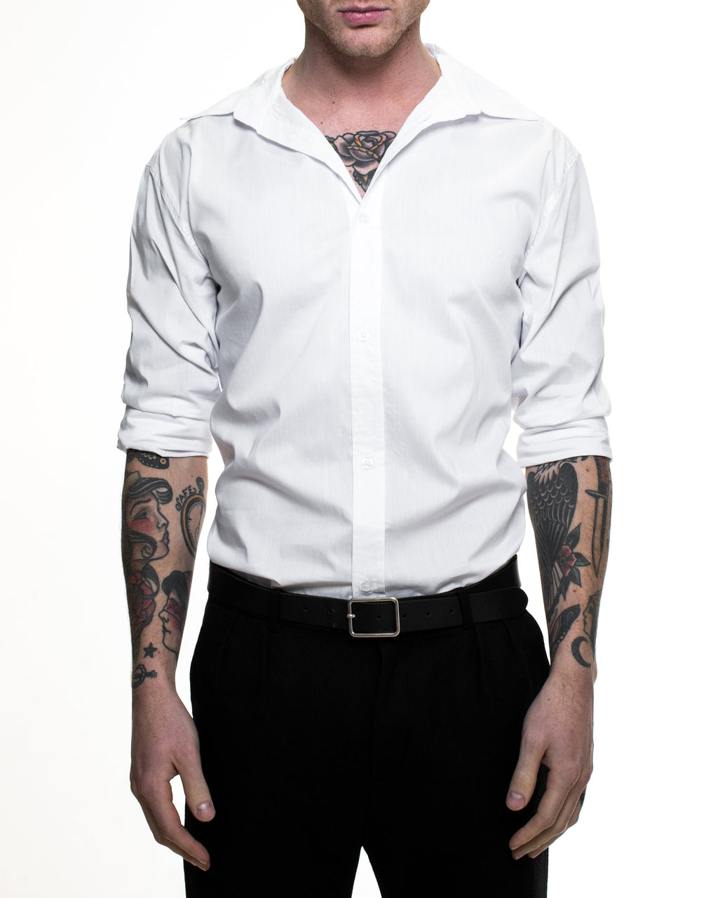 Curtis Long-Sleeve Shirt - White
