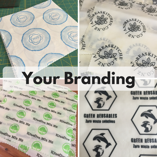 Custom branded beeswax food covers 28 Medium