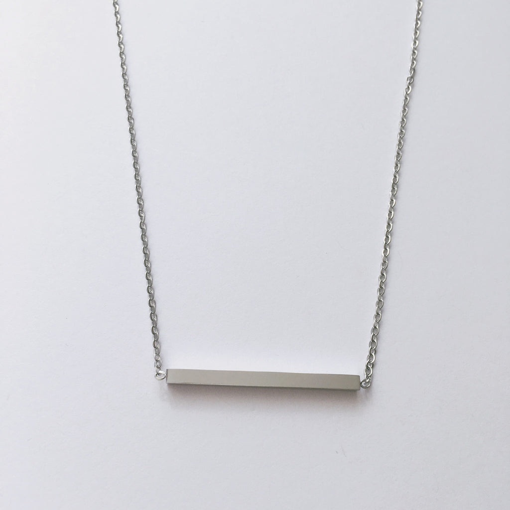Silver Bar Necklace-Suradesires-Suradesires