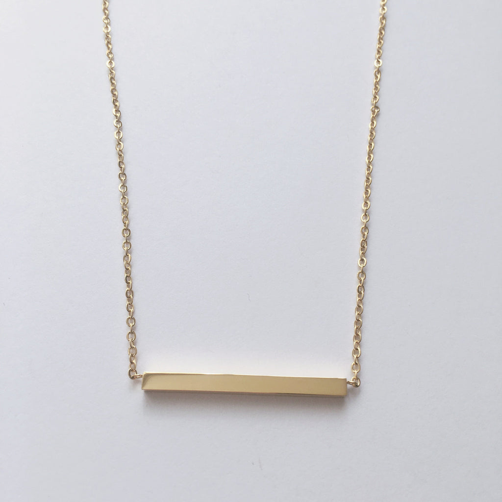 Gold Bar Necklace - Suradesires - 2