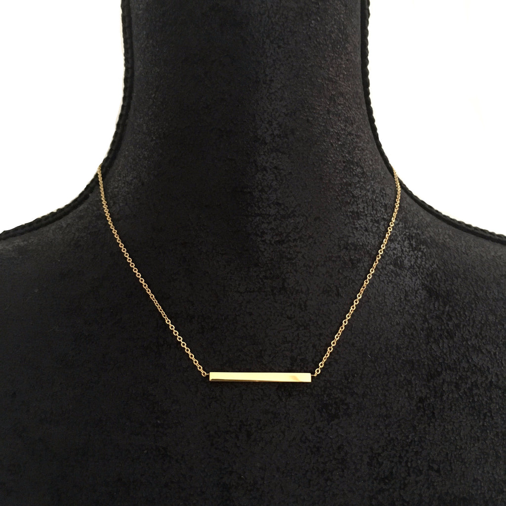 Gold Bar Necklace - Suradesires - 1