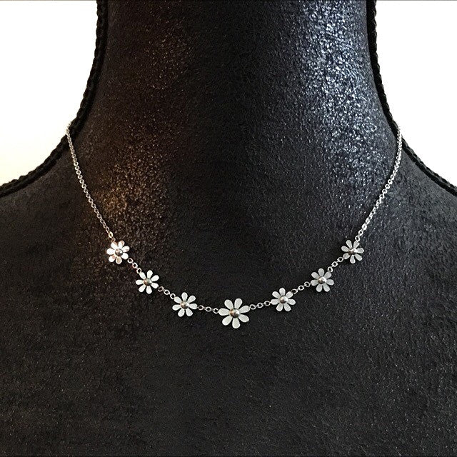Darling Daisy Necklace - More Colours-Suradesires-Silver-Suradesires