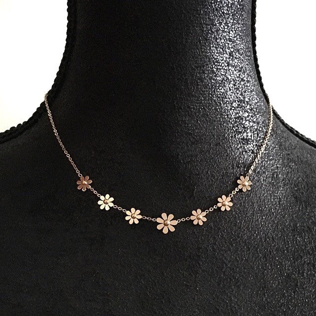 Darling Daisy Necklace - More Colours-Suradesires-Rose Gold-Suradesires