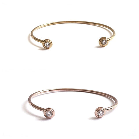 Crystal Dot Cuff Bangle - Suradesires - 1