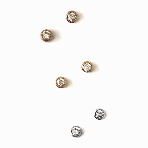 Crystal Dot Studs - 3 colours - Suradesires - 1