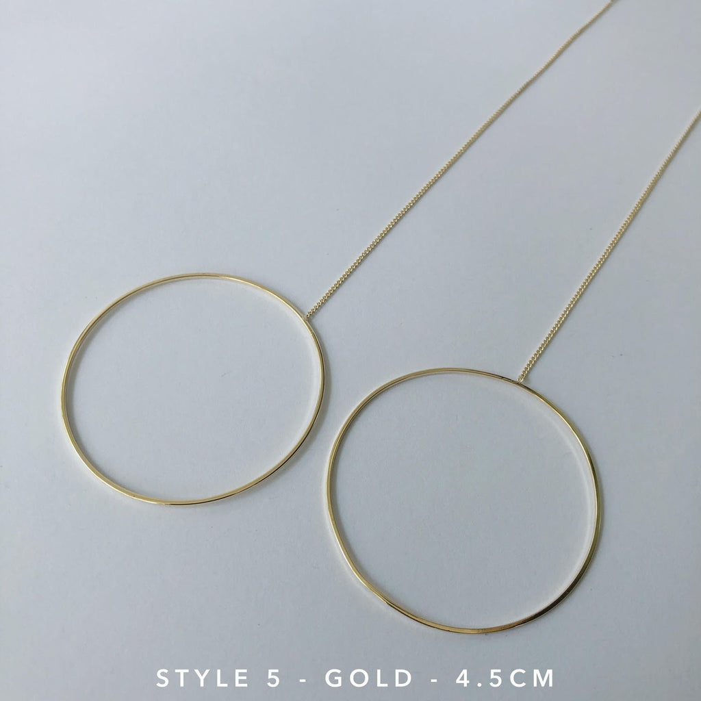 Circle Chain Thread Earrings-Suradesires-Style 5 - Gold-Suradesires