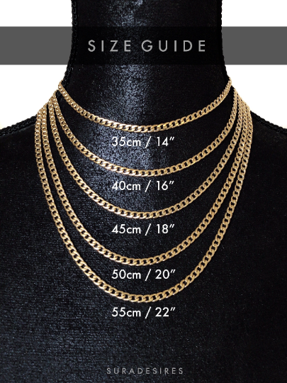 Size Guide Necklace Suradesires