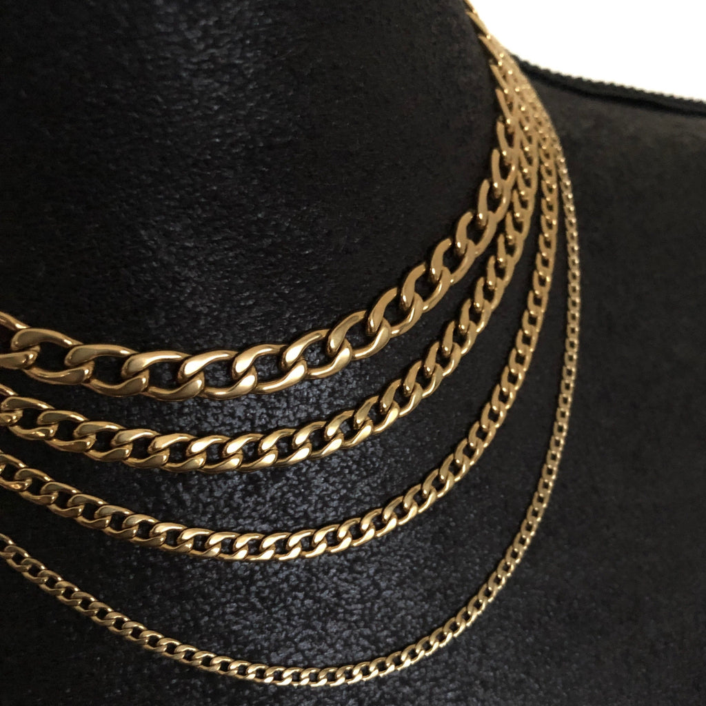 Gold Cuban Necklace Suradesires