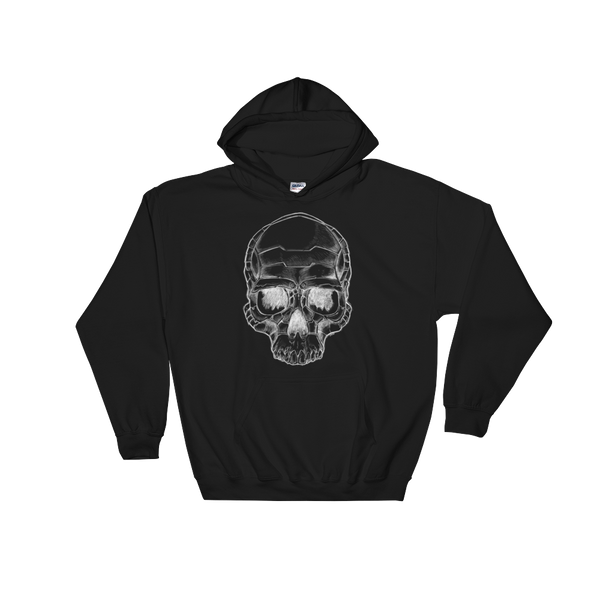 Black Bio Mechaniskull Hoody