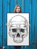 Framed Poster Print Bio Mechaniskull