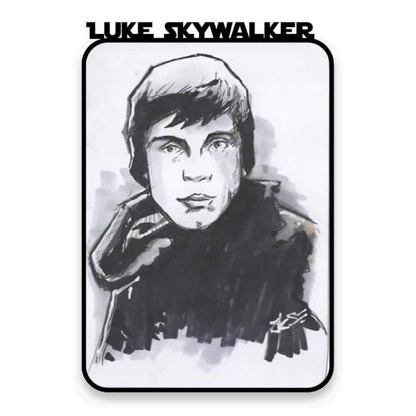 Luke Skywalker ( Return of The Jedi) ) Hand Drawn A6 Sketch Card