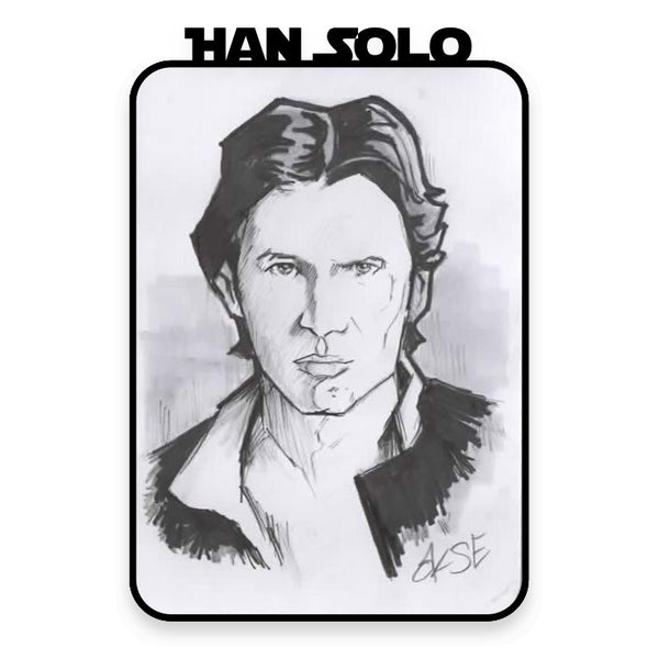Han Solo Hand Drawn A6 Sketch Card