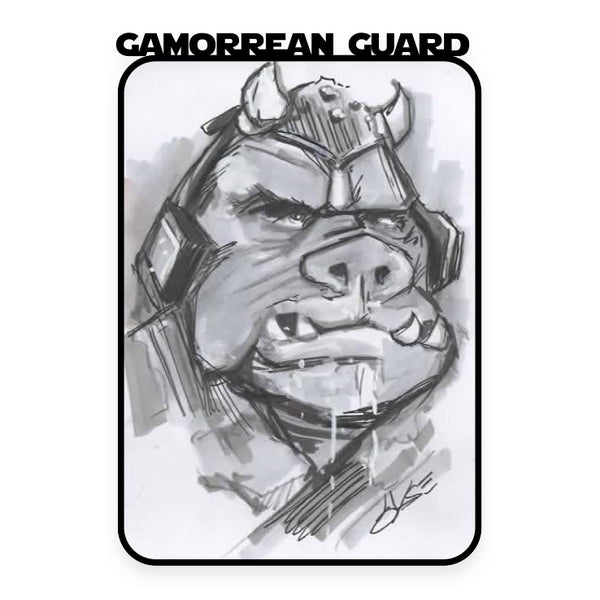 Gamoorrean Guard Hand Drawn A6 Sketch Card