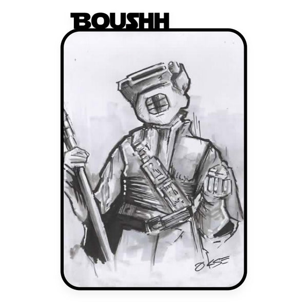 Boushh Hand Drawn A6 Sketch Card