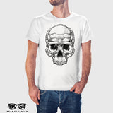 White Bio Mechaniskull T Shirt