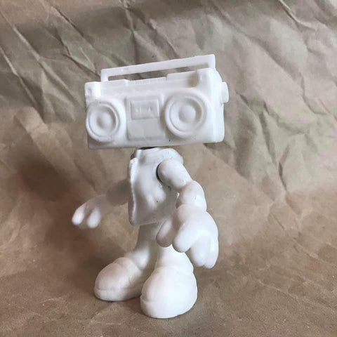 Blank BOOMBOX BOY Limited Edition Art Toy 1 of  80