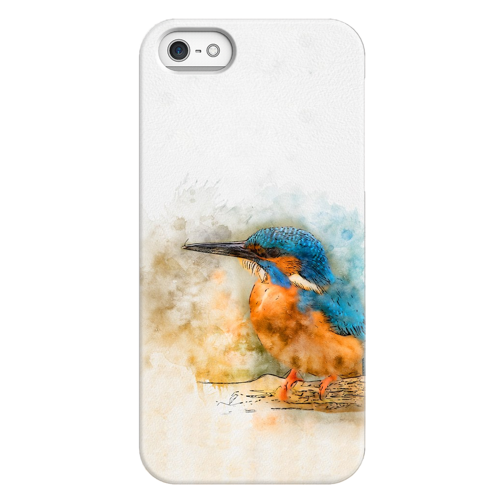Kingfisher bird watercolors -  Phone Case