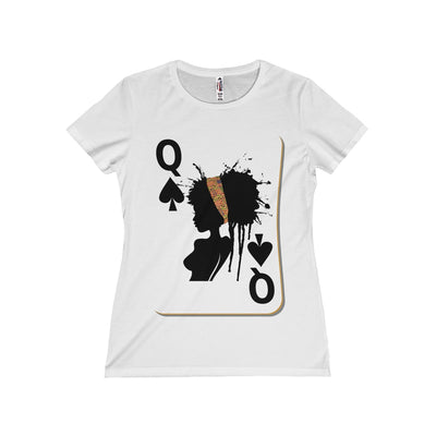 Queen Card Women's Fitted Tee